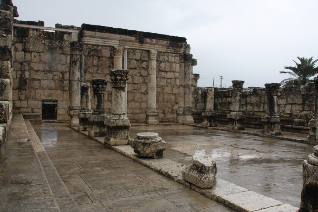 When You Need to Know that Jesus Can Handle It. Ruins of the synagogue in Capernaum.