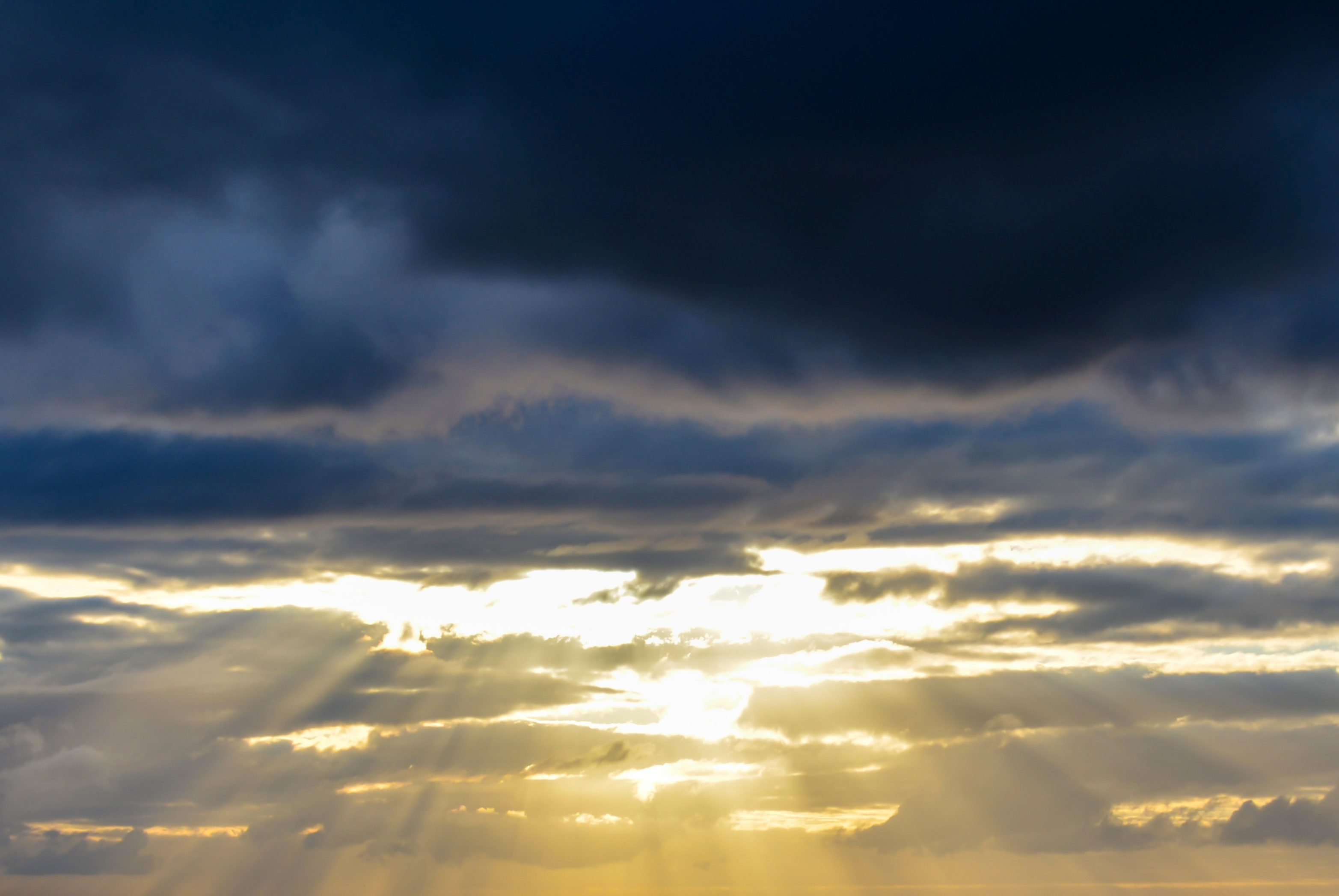 Words of Affirmation. The heavens were opened. Rays of sun shining through a break in the clouds.