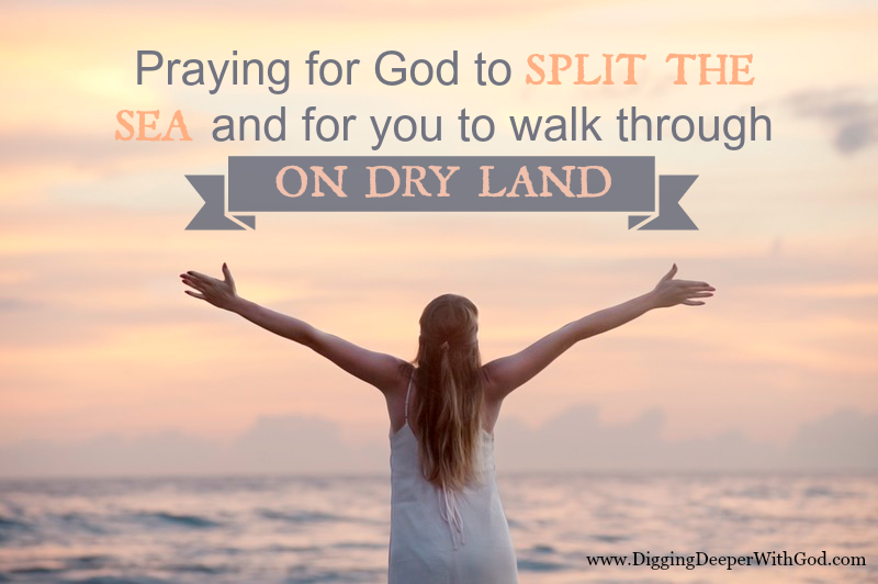 Praying for God to SPLIT THE SEA and for you to walk through ON DRY LAND