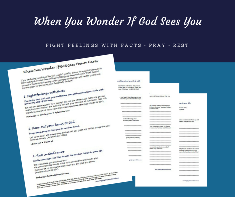Printable for When You Wonder If God Sees You