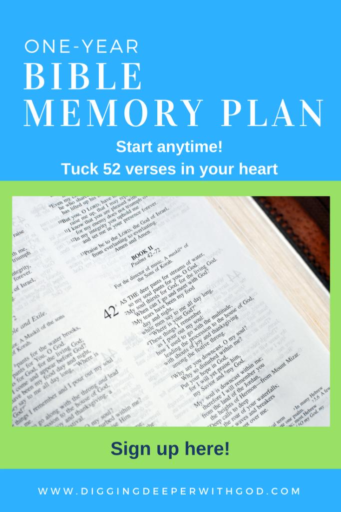One-Year Bible Memory Plan