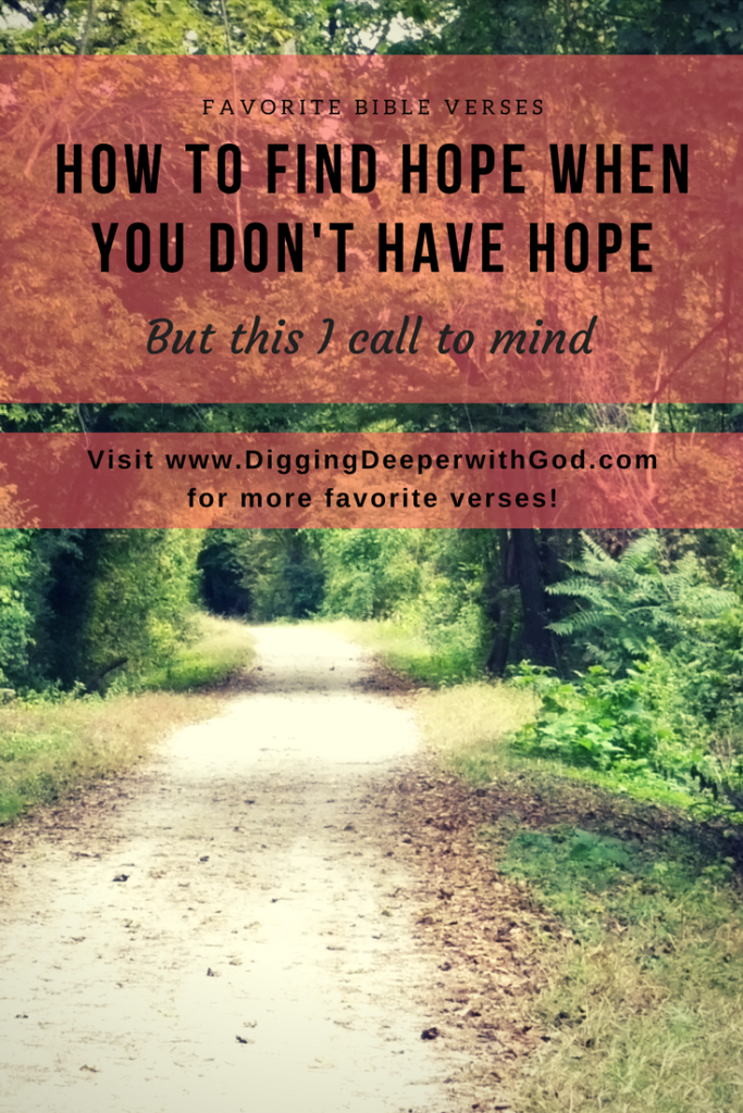 How to Find Hope When You Don't Have Hope
