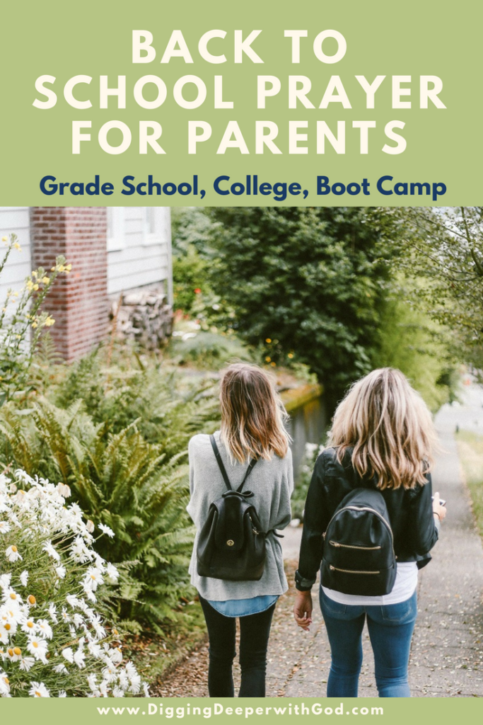 Back to School Prayer for Parents